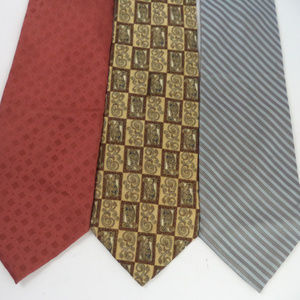 Lot of 3 Claiborne Men's Neckties CL1083 0619